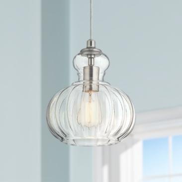 "Kichler Riviera 8 3/4"" Wide Brushed Nickel Mini Pendant"