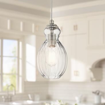 "Kichler Riviera 6"" Wide Brushed Nickel Mini Pendant"