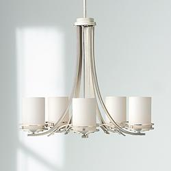 "Hendrik Nickel 24 1/2"" Wide 5-Light Chandelier"