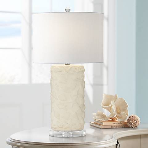 Gal Beige-Seashell Table Lamp