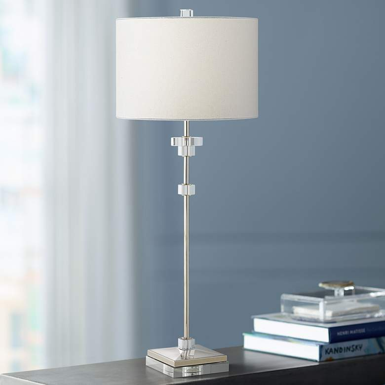Sissi Polished Nickel Console Table Lamp