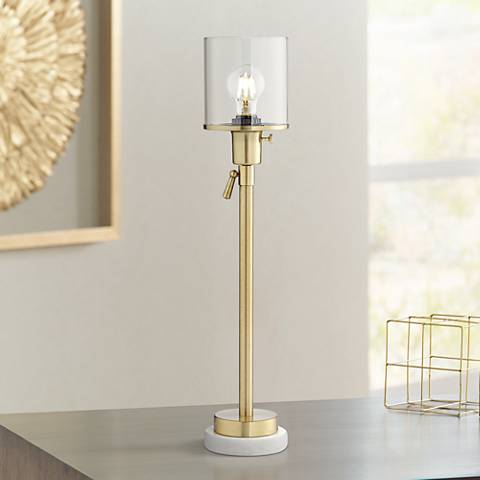 Paradiso Antique Brass Console Table Lamp