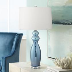 Tagus Slate Blue Table Lamp