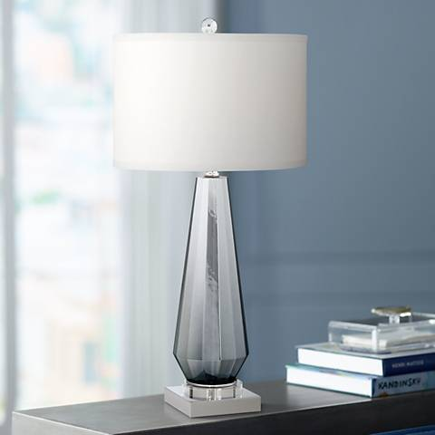 Charcoal Topaz Chrome Table Lamp