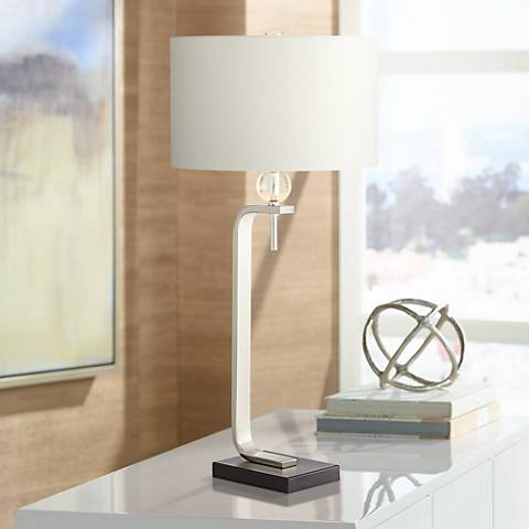 Emilia Polished Nickel Table Lamp