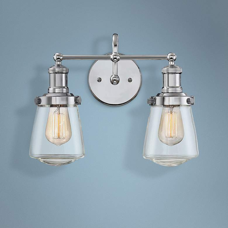 "Taylor 11 1/2"" High Chrome 2-Light Wall Sconce"