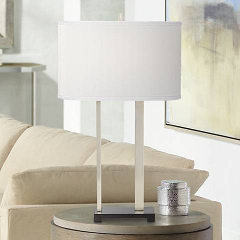 Finn Brushed Nickel Table Lamp