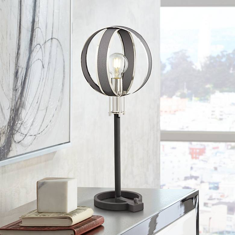 Veronica Black Console Table Lamp