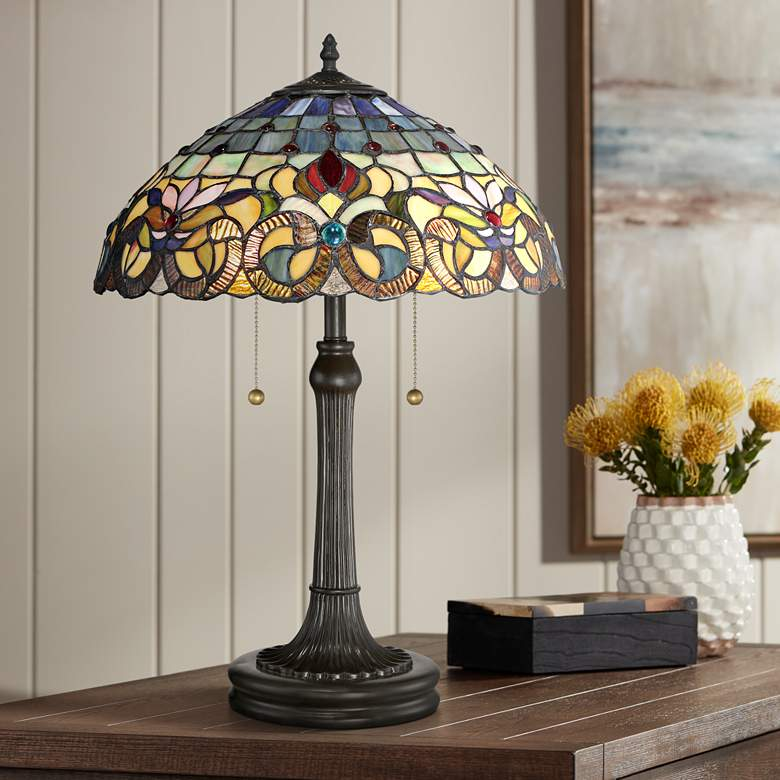 Quoizel Lyric Vintage Bronze Accent Table Lamp