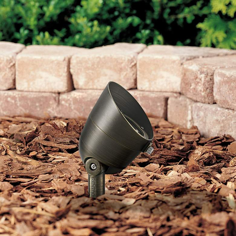 "Landscape LED 4 1/2"" High Brass 2.5W 2700K"