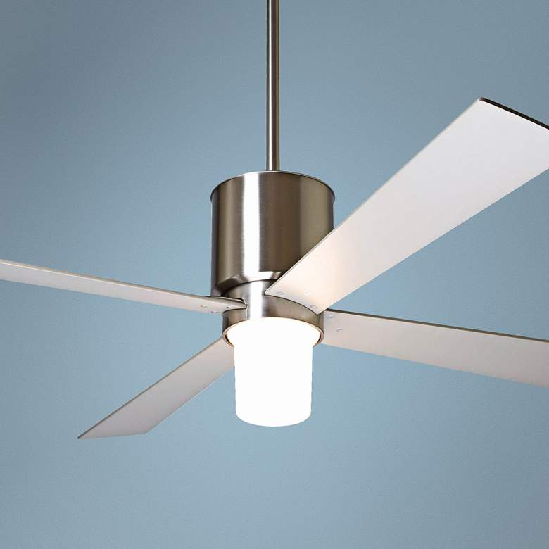 "50"" Modern Fan Lapa Bright Nickel LED Ceiling"