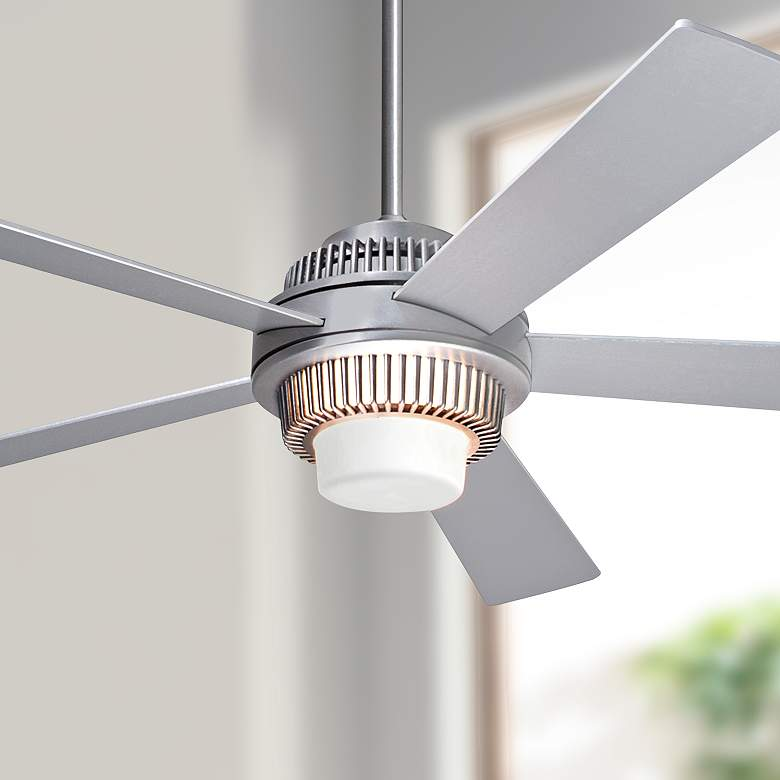 "52"" Modern Fan Solus Brushed Aluminum LED Ceiling"