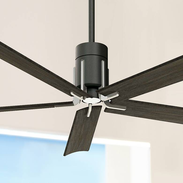 "60"" Minka Aire Clean Matte Black LED Ceiling Fan"