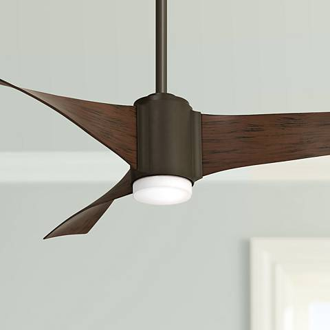 "60"" Minka Aire Triple Oil Rubbed Bronze LED Ceiling Fan"