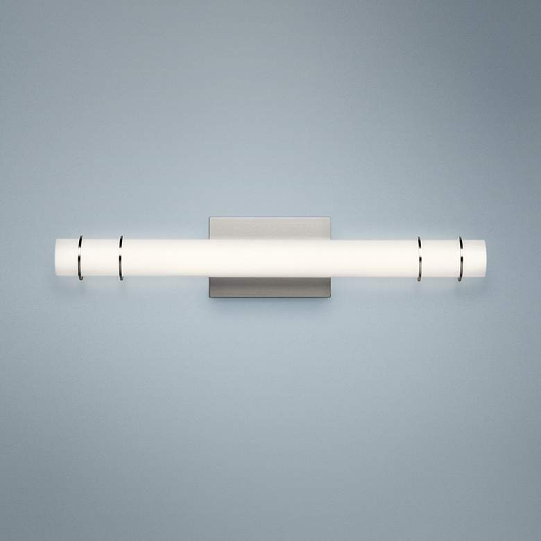"Kichler Korona 24 3/4"" Wide Brushed Nickel LED Bath Light"