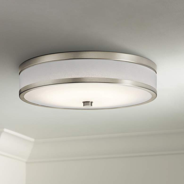 "Kichler Pira 15"" Wide Brushed Nickel LED Ceiling"