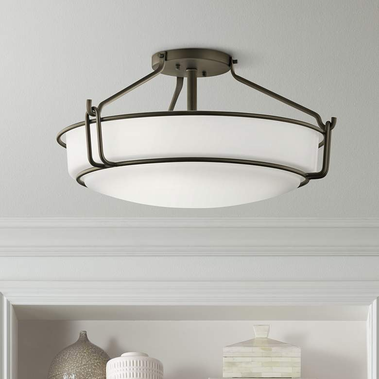 "Kichler Alkire 22"" Wide Olde Bronze Ceiling Light"