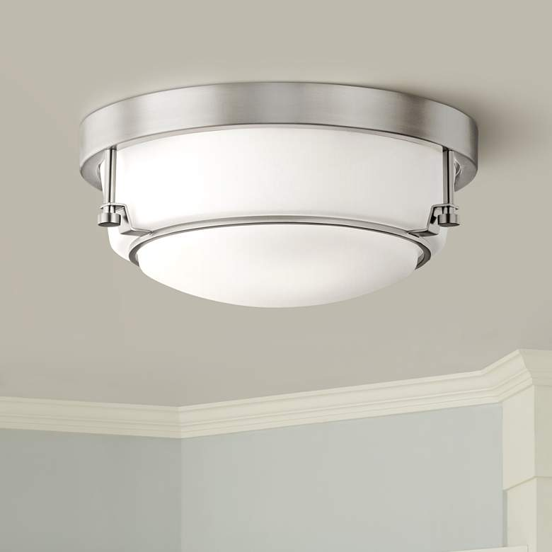 "Kichler Belmont 12 1/2"" Wide Brushed Nickel Ceiling"