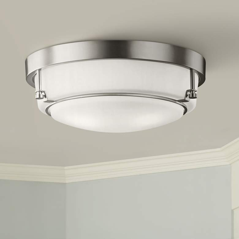 "Kichler Belmont 15 1/2"" Wide Brushed Nickel Ceiling Light"