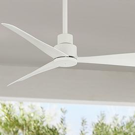 White 44 In Span Or Smaller Outdoor Ceiling Fans Lamps Plus