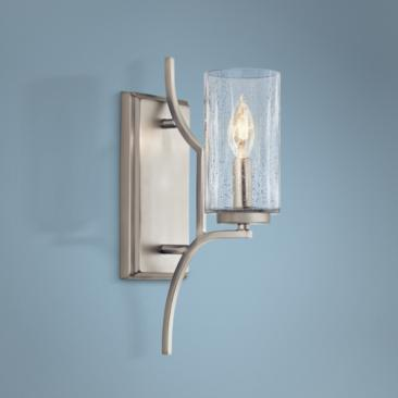 "Kichler Vara 14 1/2"" High Brushed Nickel Wall Sconce"