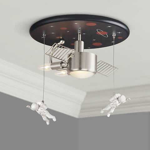"Space Station 16"" Wide Ceiling Light Fixture"