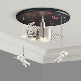 E Station 16 Wide Ceiling Light Fixture