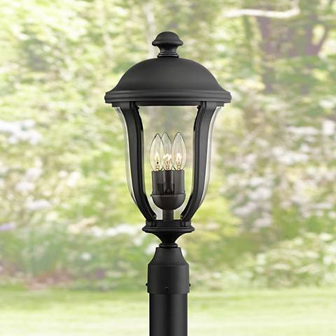 "Park Sienna 20"" High Black Outdoor Post Light"