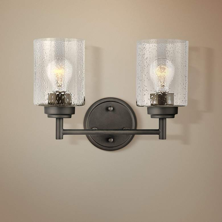"Kichler Winslow 9 1/4"" High Olde Bronze 2-Light"