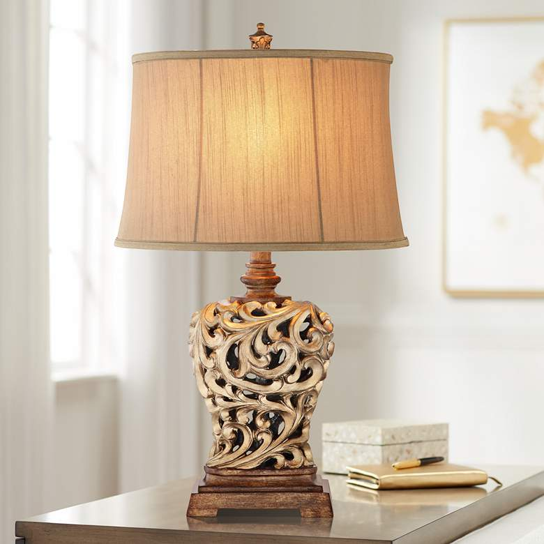 Piper Soft Gold and Oil Rubbed Bronze Table Lamp