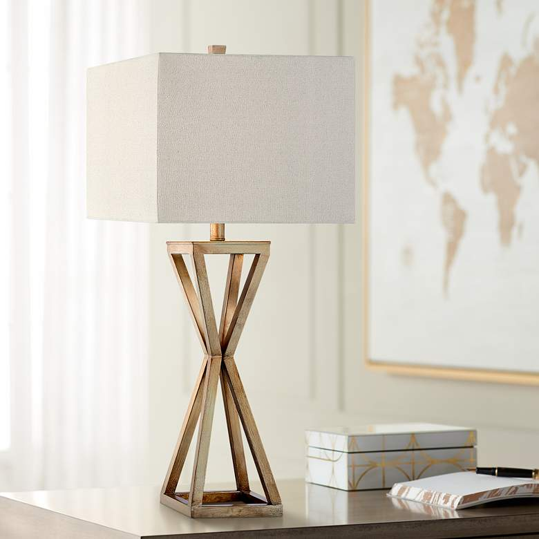 Ezra Painted Gold Table Lamp
