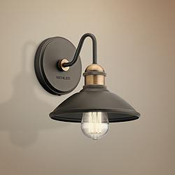 "Kichler Clyde 7 1/4"" High Olde Bronze Wall Sconce"