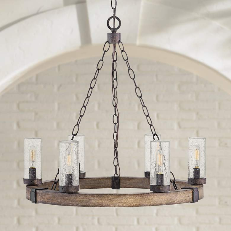 "Hinkley Sawyer 24"" Wide Sequoia 6-Light Outdoor Chandelier"