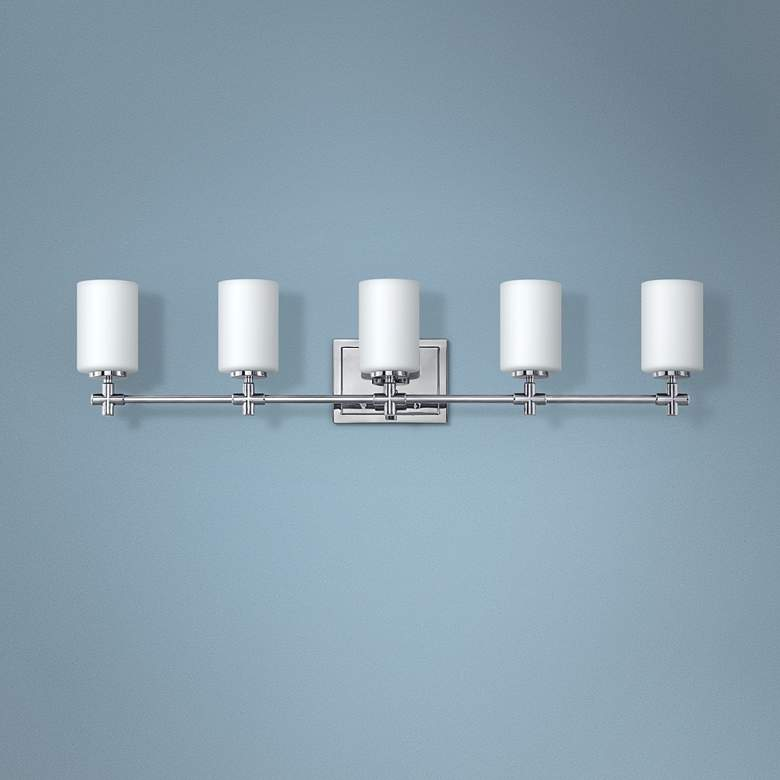 Hinkley Laurel 35 3 4 W Polished Nickel 5 Light Bath