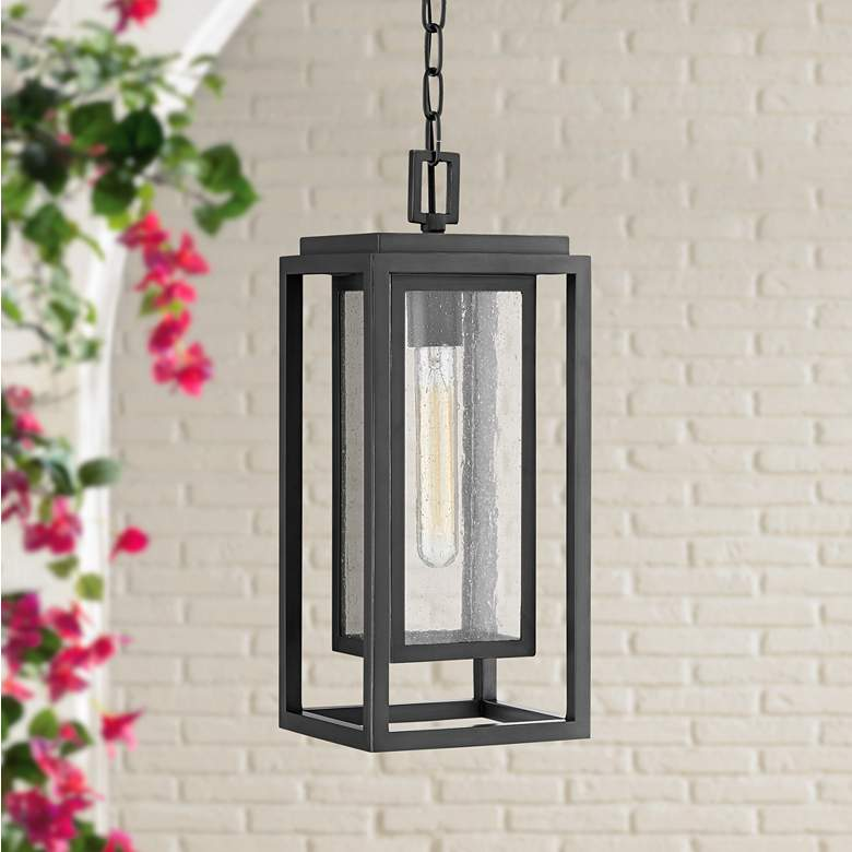 "Republic 16 3/4""H Oil-Rubbed Bronze Outdoor Hanging Light"