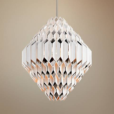 "Corbett Haiku 44"" Wide White Large Pendant Light"