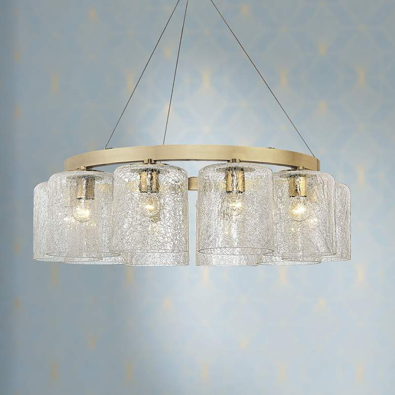 "Charles 34 1/2"" Wide Aged Brass 10-Light Chandelier"