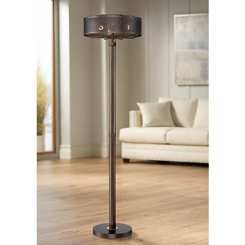 Felix 3-Light Metal Industrial Floor Lamp