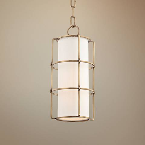 "Hudson Valley Sovereign 7"" Wide Aged Brass LED Mini Pendant"