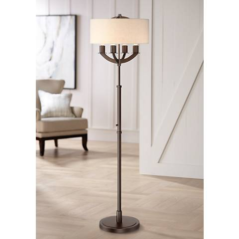 Franklin Iron Works Baxter 4-Light Floor Lamp