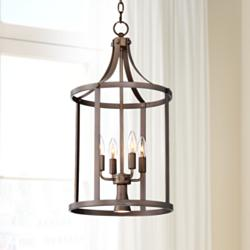 "Pennington 13 1/2"" Wide Bronze Foyer Pendant Light"