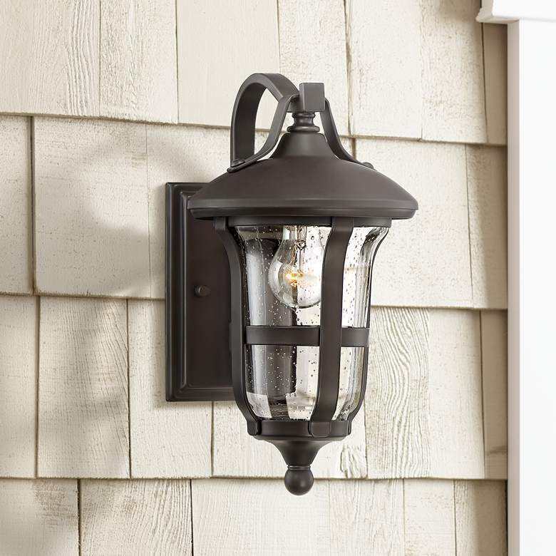 "Birmingham 13 3/4"" High Bronze Outdoor Wall Light"