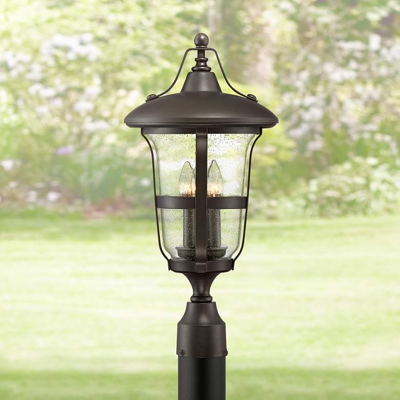 "Birmingham 21 1/2"" High Bronze 3-Light Outdoor Post Light"