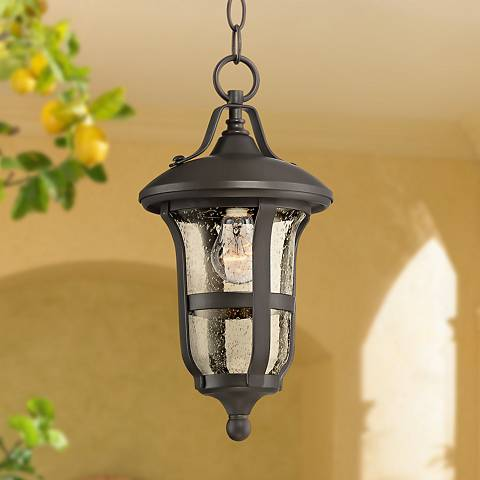 "Birmingham 14 3/4"" High Bronze Outdoor Hanging Light"