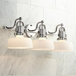"Possini Euro Fella 26 3/4"" Wide Polished Nickel Bath Light"