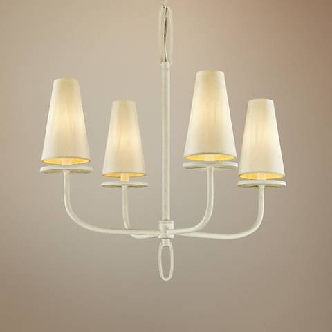 "Marcel 26"" Wide Gesso White 4-Light Chandelier"