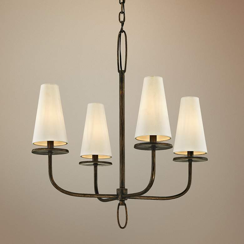 "Marcel 26"" Wide Pompeii Bronze 4-Light Chandelier"