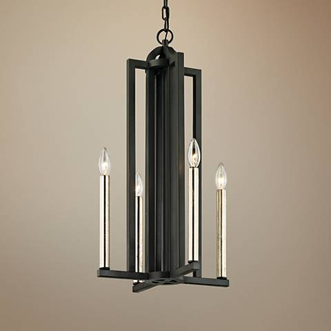 "Grayson 14"" Wide Textured Bronze 4-Light Pendant"
