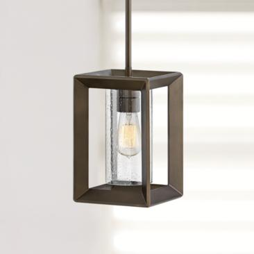 "Hinkley Rhodes 7 1/4"" Wide Warm Bronze Outdoor Mini Pendant"