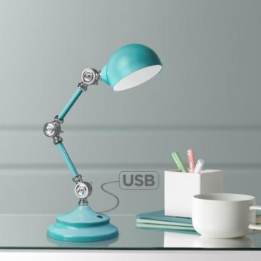 OttLite Revive LED Desk Lamp with USB Port Turquoise